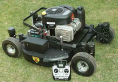 Remote control lawn mower. Genius.