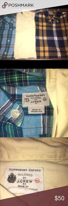 Bundle of J.Crew woven shirts Three J.Crew woven button down shirts. Barely worn. All in great condition. MSRP: $60 a piece J. Crew Shirts Casual Button Down Shirts