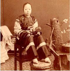 Foot Binding:  A widespread practice in China during the Qing Dynasty. It was a process used by women as both men and women saw small feat as a sign of beauty. Women would wrap cloth around their child's feet at around the age of five for ten years, to make the feet smaller.