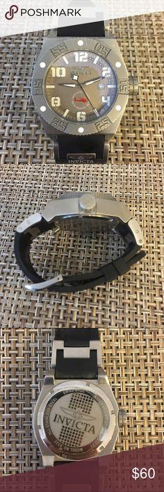 Men's Invicta Watch Men's Invicta Watch. Black Silicon band. Needs a new battery. Invicta Accessories Watches