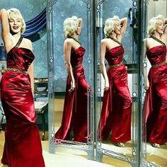 Marilyn Monroe red sequinned gown wore in Gentlemen Prefer Blondes