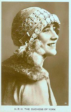 The Duchess of York later Queen Elizabeth Queen Consort of George V1 and mother of Queen Elizabeth 11