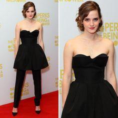 Emma Watson Wears Dress Over Trousers https://staphacharleme.blogspot.com