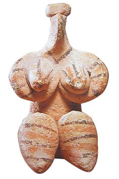 'Terracotta female figurine, Halaf, 6th millennium BC, 8.8 cm. (Bavarian State Archaeological Collection, Munich) | Syria's other toll: cultural gems stolen, looted, destroyed' http://www.pinterest.com/Arragorn7/v%C3%A9nus-goddess/