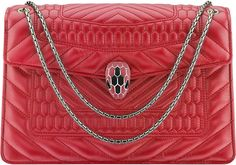 Bvlgari Serpenti Forever leather shoulder bag