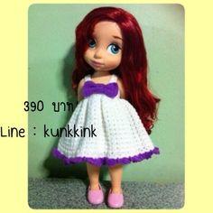 Doll Dress / Disney Animator Doll Ariel / Crochet