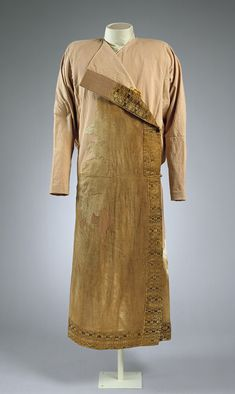 Caftan, 8th–10th century  Caucasus Mountain regions  Silk, linen, and fur    Source: Caftan [Caucasus Mountain regions] (1996.78.1) | Heilbrunn Timeline of Art History | The Metropolitan Museum of Art
