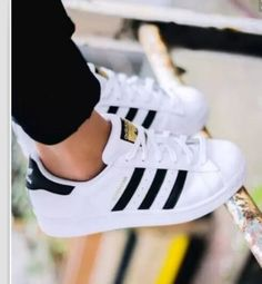 """Summer11""""Adidas"""" Fashion Shell-toe Flats Sneakers Sport Shoes White Black Golden https://tmblr.co/ZnVlHd2OD7XUq"""