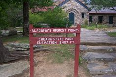 Highest point in Alabama cheaha mountains