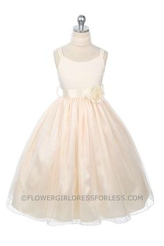 Flower Girl Dress Style 185 - SALE Ivory size 2,6,8  (1 piece available each) $39.99