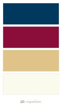 Navy, Burgundy, Gold, and Ivory Wedding Color Palette - custom color palette…