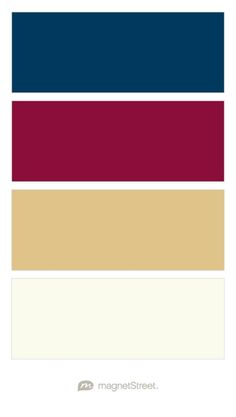 Navy, Burgundy, Gold, and Ivory Wedding Color Palette - custom color palette created at MagnetStreet.com