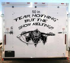 Fear Racing Trailer Decal- Vinyl Decal - Car Decal -Trailer Sticker - Custom Text Decal - GR94