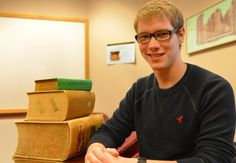 """Garrett Lysford '15, Oslo, Minn., will present his paper, """"Cicero and Adams: Architects of the Founding,"""" in Washington, D.C., in December at the undergraduate research symposium of the Center for Hellenic Studies. #cordmn"""