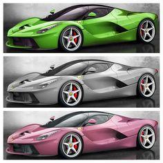 So which one do you want ?! Alors vous voulez la quelle ?! #LaFerrari