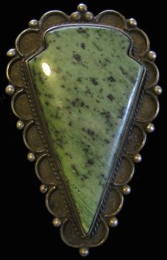 Old Pawn, Large Format Navajo Ruby-Zoisite / Anyolite Arrow Head Bolo Tie