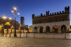 Piacenza by night by Mario Carminati on 500px