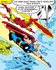 Thor, Iron Man & Human Torch