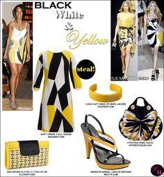 Yellow, Black & White Fashion