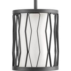 Progress Lighting P500016 Wemberly Single Light 6-3/8 Wide Mini Pendant, Silver steel