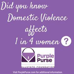 Allstate Foundation Purple Purse Campaign - Domestic Violence and Financial Abuse Purple Purse, Domestic Violence, Random Stuff, Healthy Living, Relationships, Foundation, Campaign, Ads, Purses