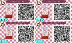 ♥ Bubblegum Sisters Kawai Pink and Blue Face board Animal Crossing New Leaf Qr Code