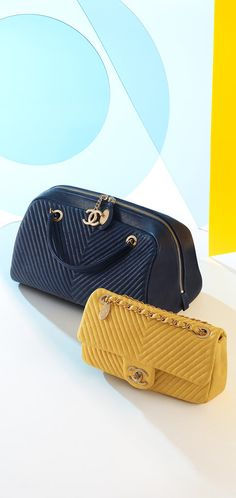 Cruise 2015/16 - Small lambskin flap bag embellished with chevron quilting