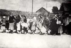 Bialystok, Poland, Deportation of Jewish women to the death camps