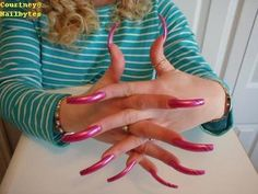 tufan koc Photos on Myspace Sexy Nails, Hot Nails, Pink Nails, Long Red Nails, Long Fingernails, Summer Acrylic Nails, Best Acrylic Nails, Perfect Nails, Gorgeous Nails