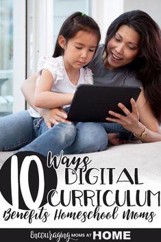 10 Ways Digital Curriculum Benefits Homeschool Moms Best Homeschool Curriculum, Homeschooling, Online Programs, School Lessons, Fun Learning, Learning Activities, 3d Printer, Digital, Benefit