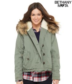 Faux Fur-Trim Anorak - Bethany Mota Collection