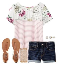 """Summer is calling"" by haileyhartley on Polyvore featuring Joules, American Eagle Outfitters, Kendra Scott, Honora and Billabong"