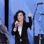 """Jonas Brothers greeted their fans at their concert in Central Park joined by co-star pal Demi Lovato as they all took the stage as part of the """"Good Morning America Concert Series"""" to give the"""