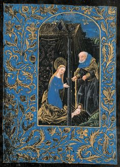 Nativity | Book of hours (Black Hours) | Belgium, Bruges | ca. 1480 |  The Morgan Library & Museum