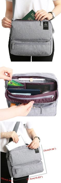 US$16.89 Women Men Unisex Outdoor Large Capacity Functional Laptop Shoulder Bag Crossbody Bag