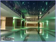 Starry sky above the pool is best to create an elegant fiber optic lighting company E-Technology. The starry sky overhead vacationing in the pool, fully reflects the decorative character of the interior. Star sky as the pictures can be mounted in the ceiling clamping, then creates a really beautiful project the night sky.  www.e-technologia.pl