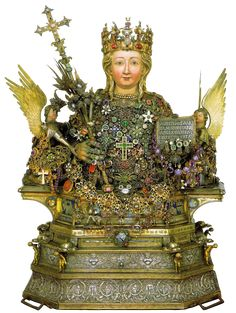 Giovanni Di Bartolo, Reliquary bust of Saint Agatha, XIV cent. Medieval Paintings, European Paintings, Catania, Medieval Fashion, Medieval Art, House Of Gold, Burgundy Gown, 14th Century, Religious Art