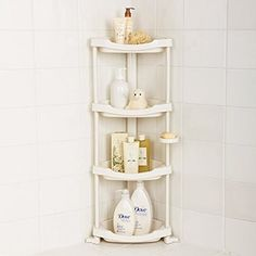 A shower caddy for a less cluttered shower experience.