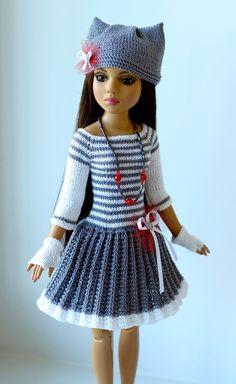 "Handmade knit outfit for Tonner Doll Ellowyne Wilde Body 16"" dress | eBay"