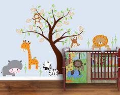 10 Baby Boy Nursery Inspiration I really like this one! Saw a crib set to match. Bedroom Wall Designs, Bedroom Themes, Nursery Themes, Nursery Decor, Nursery Ideas, Room Ideas, Room Decor, Themed Nursery, Nursery Design