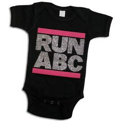 Baby Girl Tops - Psychobaby Run ABC Glitter One-Piece