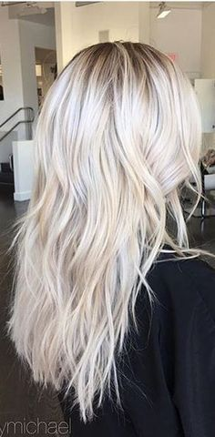 Super Ideas For Hair Color Bright Blonde Haircuts White Blonde Highlights, White Blonde Hair, Hair Highlights, Bright Blonde Hair, Bright Highlights, Icy Blonde, My Hairstyle, Pretty Hairstyles, Hair Color 2017