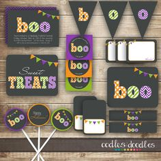 Simple, but lovely use of conventional Halloween colours.