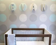 DIY Studded Wall Letters - Project Nursery this would be cute with the rhinestone ribbon