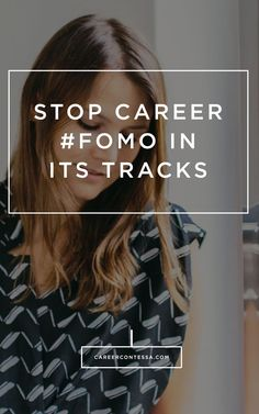 I know looking at your friend's latest international trip or elegant promotion party isn't easy. Here's how to stop Career #FOMO in its tracks. #CareerAdvice #SocialMedia #Instagram #Adulting