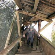 Wanderung 18. Februar: Treppensteigen nach dem Besuch in der Wissbachschlucht