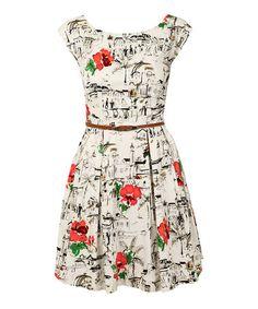 Look what I found on #zulily! White Riviera Belted Dress #zulilyfinds