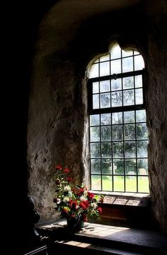 The View from a Medieval Window, Hardham Priory, West Sussex, England ~ photo via abriendo . Church Windows, Old Windows, Windows And Doors, Window Parts, Window View, Through The Window, Doorway, Interior And Exterior, Medieval