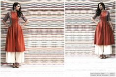 Rust pleated cape #dress #checks #vintage #midi #grey #handcrafted #linen #cotton #floral #indian #ethnic #fall #layers #chanderi #kitsch #cape #wine #rust https://www.facebook.com/itrbykhyati