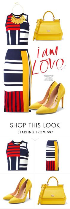 """""""Bold Patterns"""" by fashion-life4me on Polyvore featuring Tommy Hilfiger, Rupert Sanderson, Dolce&Gabbana and Alexa Starr"""